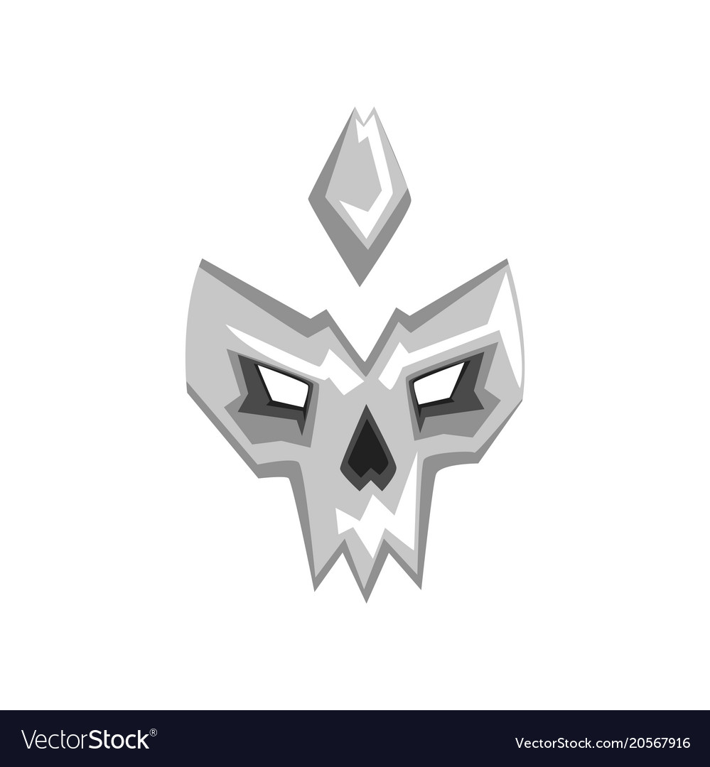 Hero or villain mask on a vector image