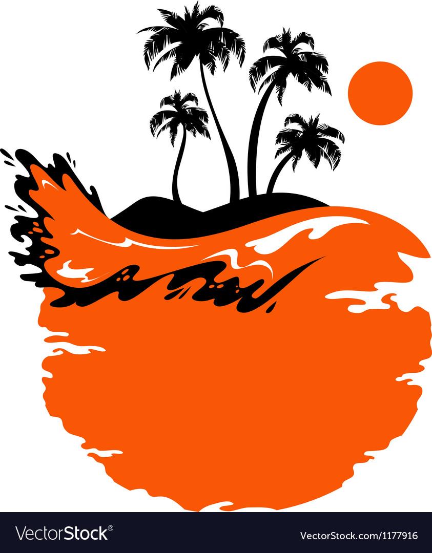 Landscape of Tropical Banner