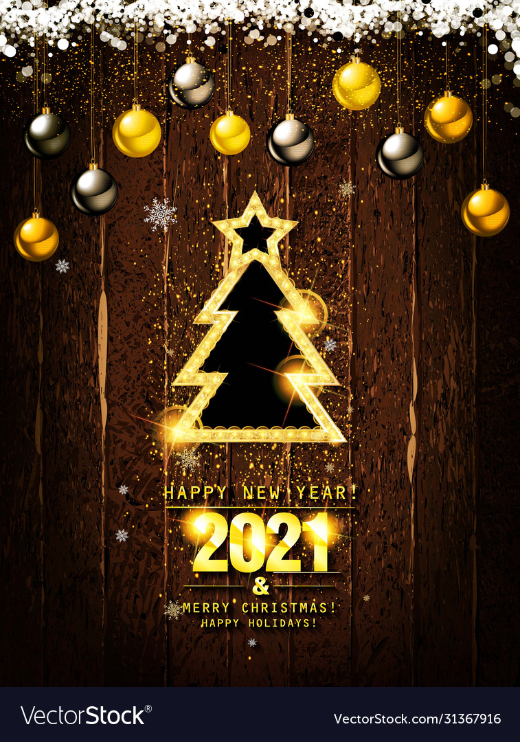 merry christmas and happy new year 2021 royalty free vector vectorstock