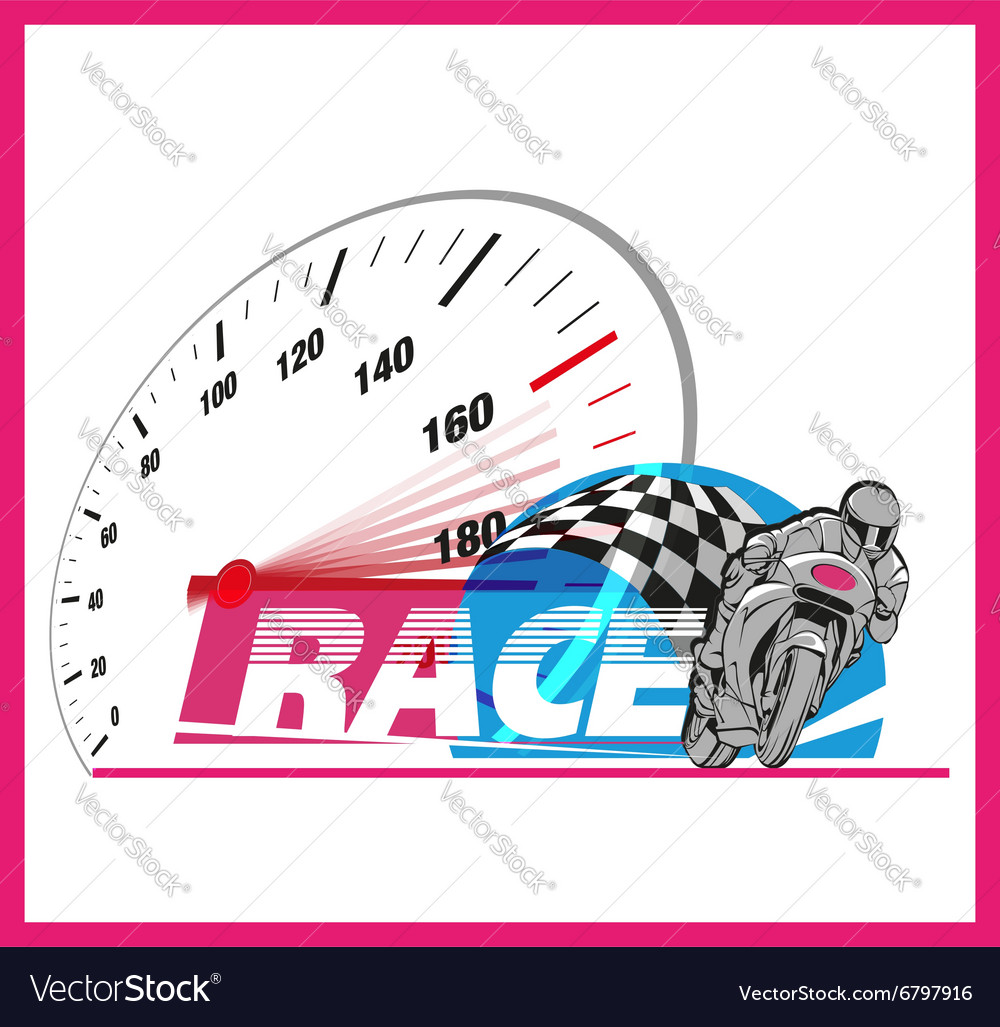 Motor Race Logo Event Royalty Free Vector Image