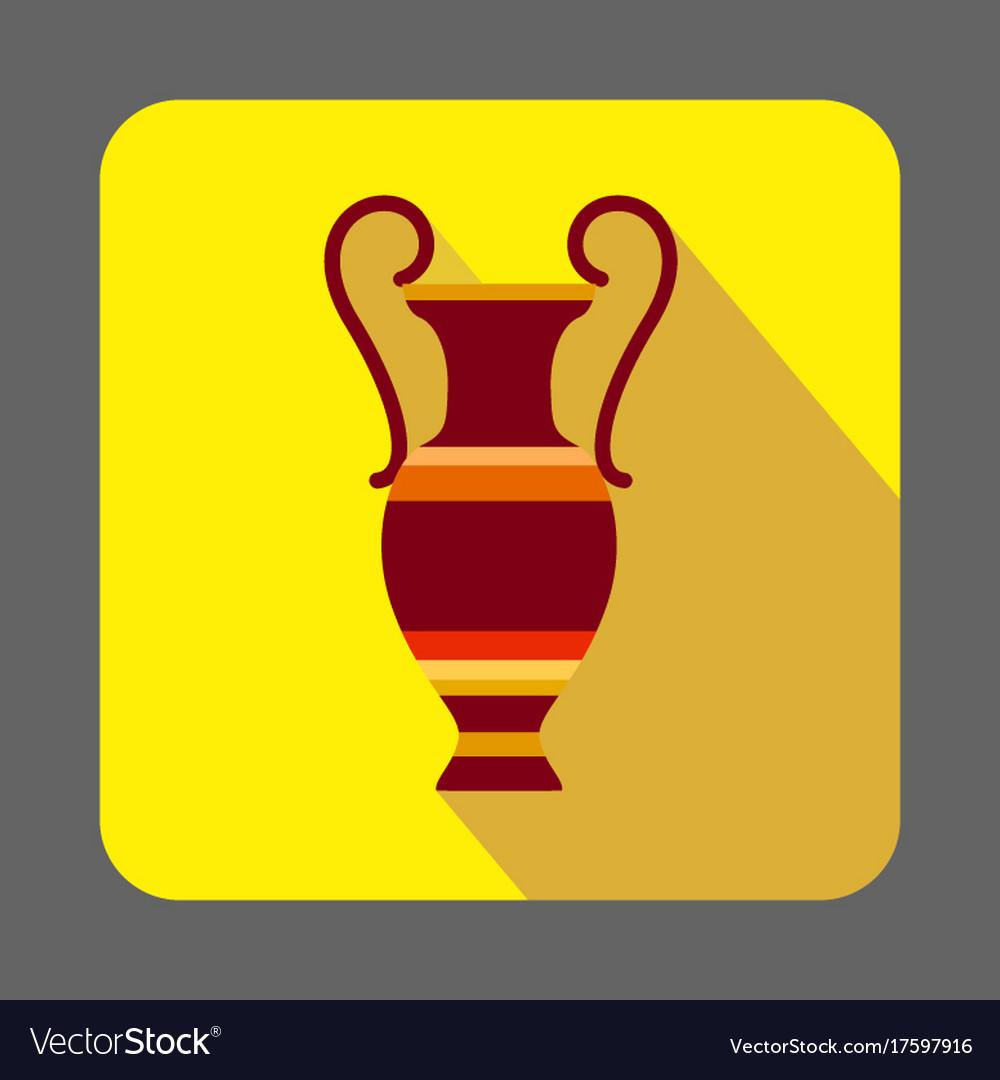 Museum ancient vase concept background cartoon