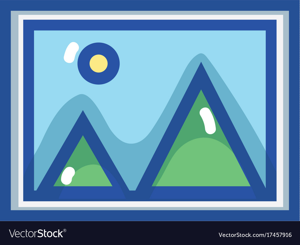 Nice frame picture art design Royalty Free Vector Image