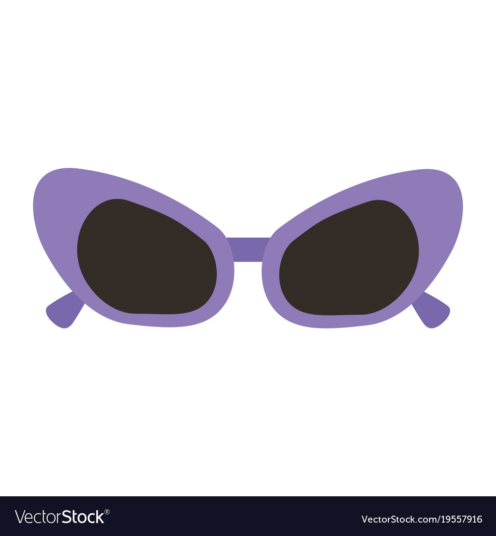 sunglasses purple frame fashion accessory cartoon vector image rh vectorstock com sunglasses cartoon transparent sunglasses cartoon pics