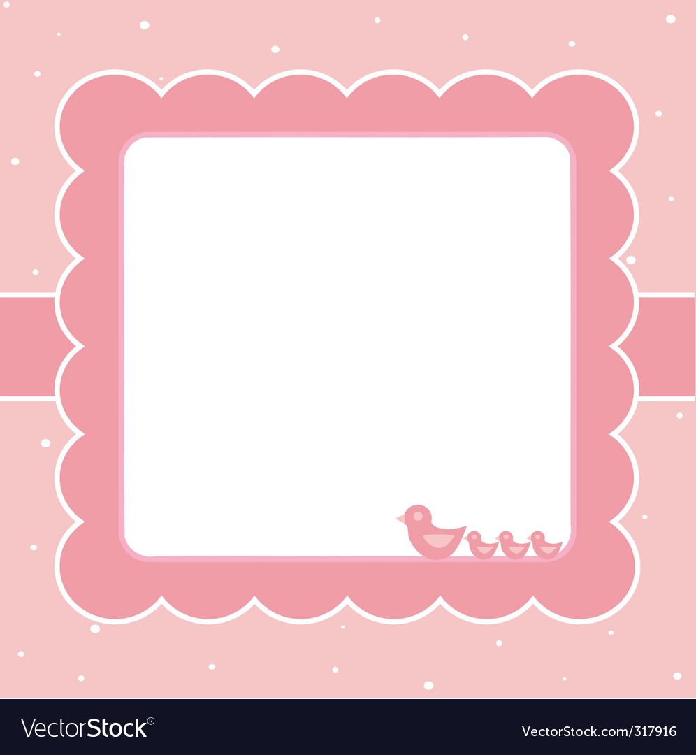 Sweet baby card Royalty Free Vector Image - VectorStock
