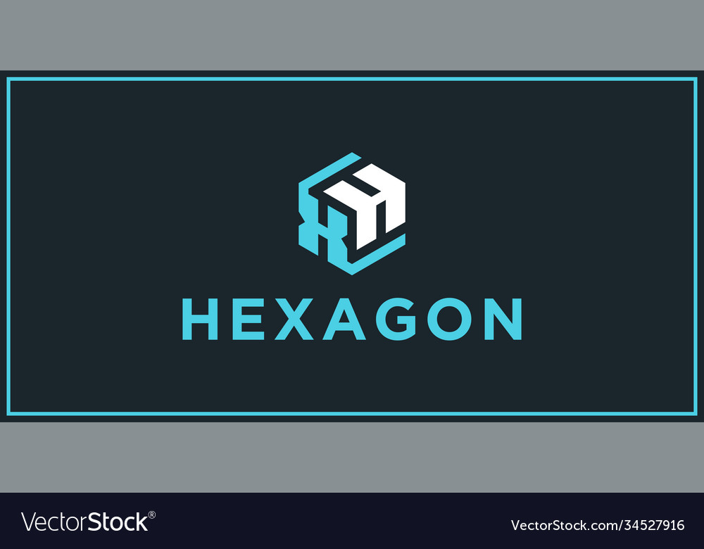 Xh hexagon logo design inspiration