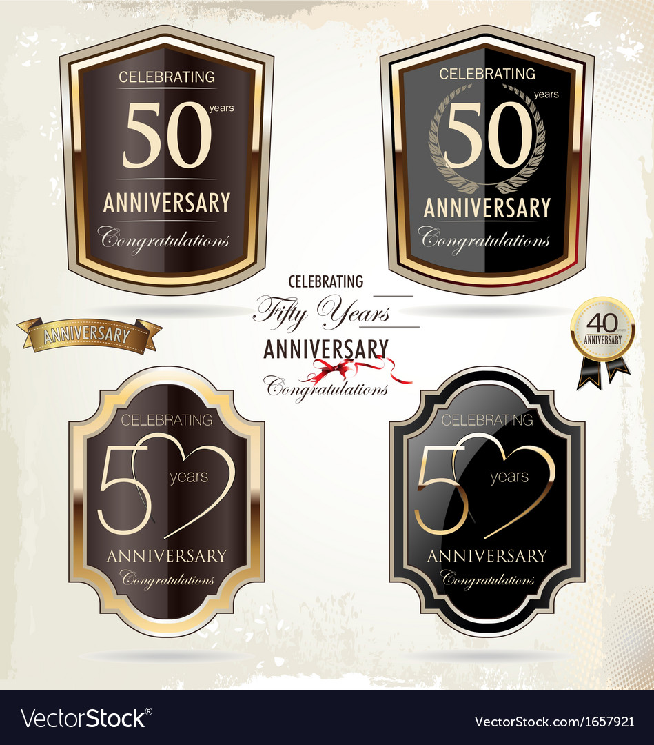 50 years Anniversary labels