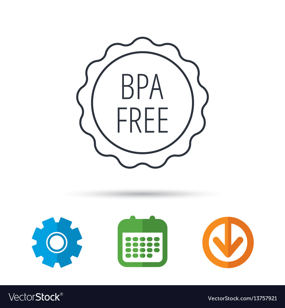 Bpa free icon bisphenol plastic sign
