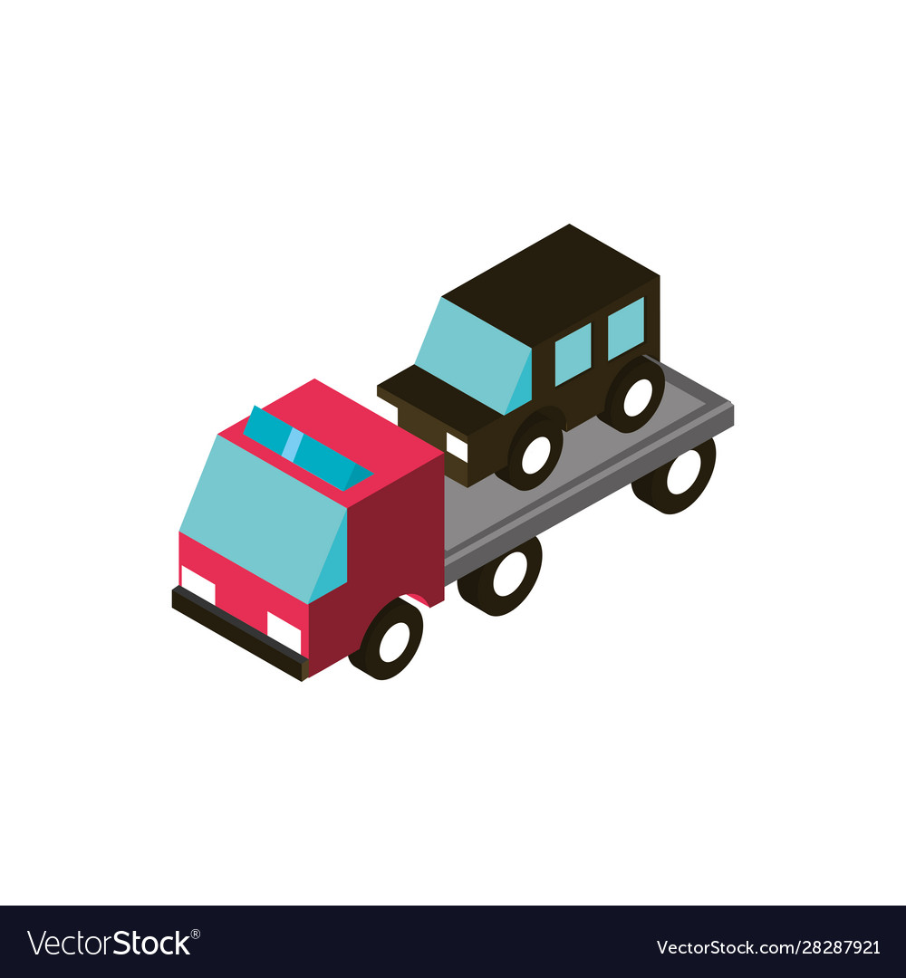 Car towing truck service transport vehicle