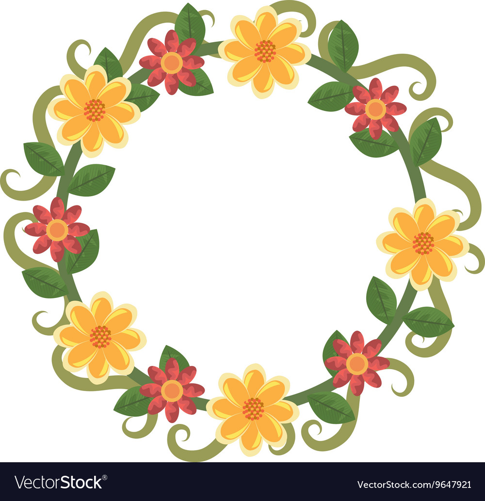 Colorful flowers crown graphic royalty free vector image colorful flowers crown graphic vector image izmirmasajfo