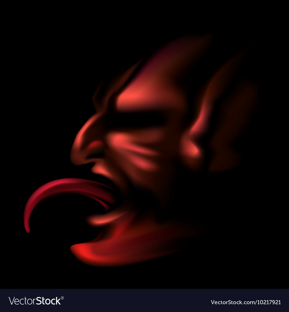 Devil with Stick Out Tongue vector image