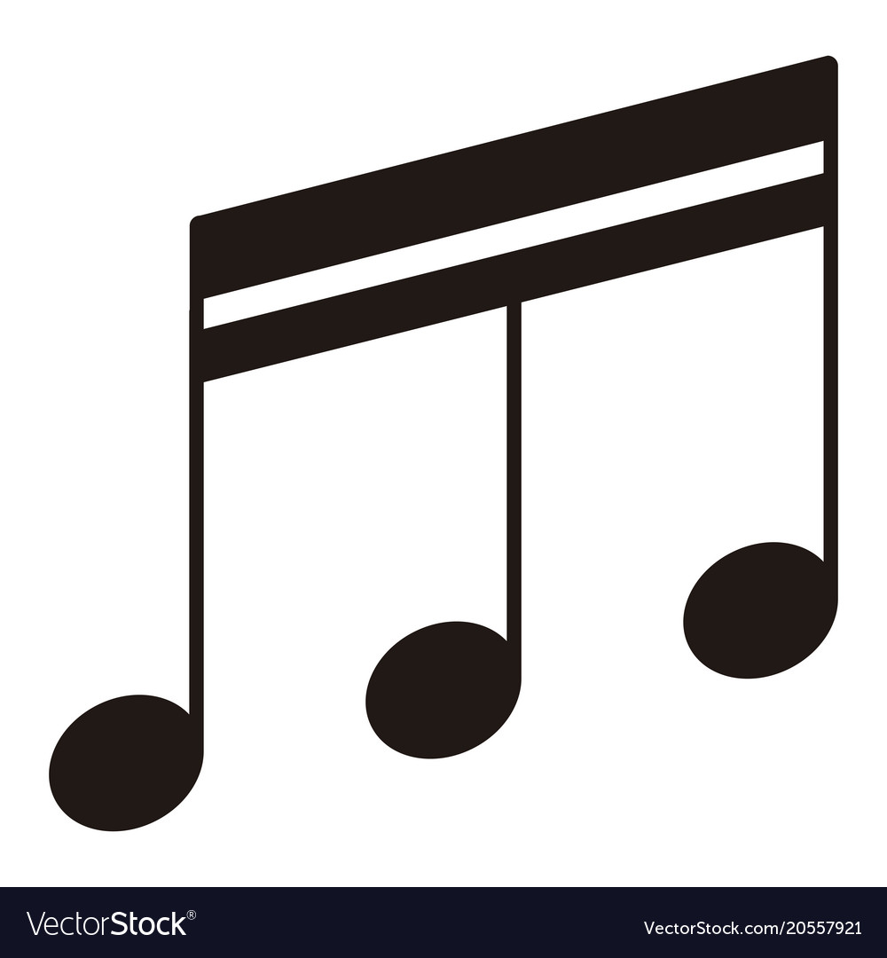 isolated sixteenth beamed note musical note vector image rh vectorstock com music note vector png musical notes vector free