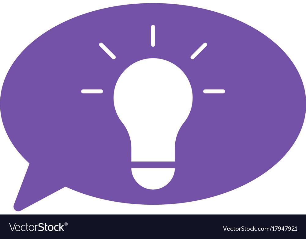Lamp idea with bubble speech