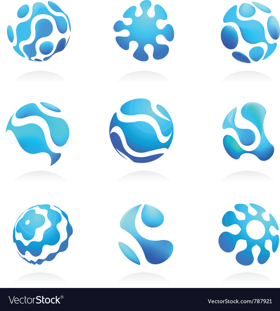 Mesh business abstract icons set vector image