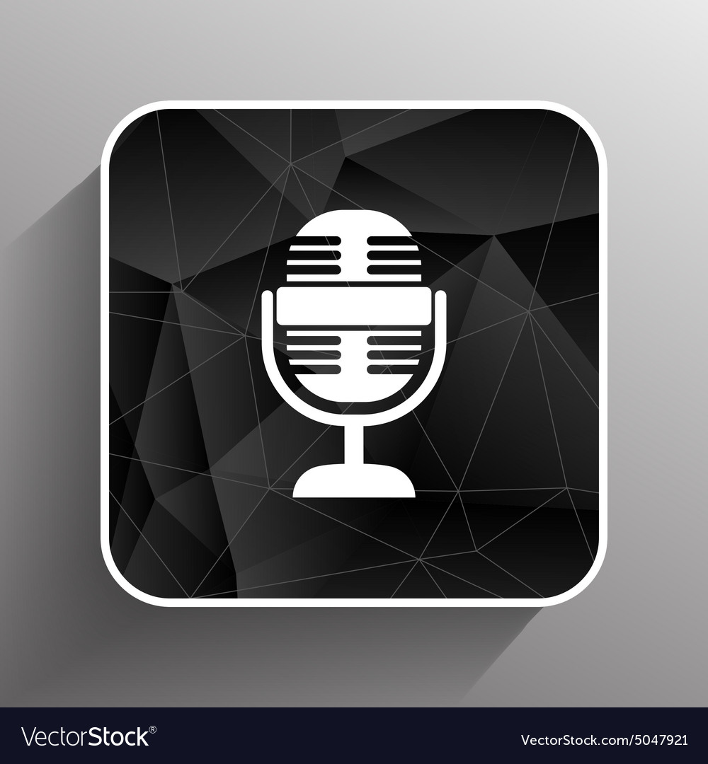 Microphone icon broadcasting isolated journalist