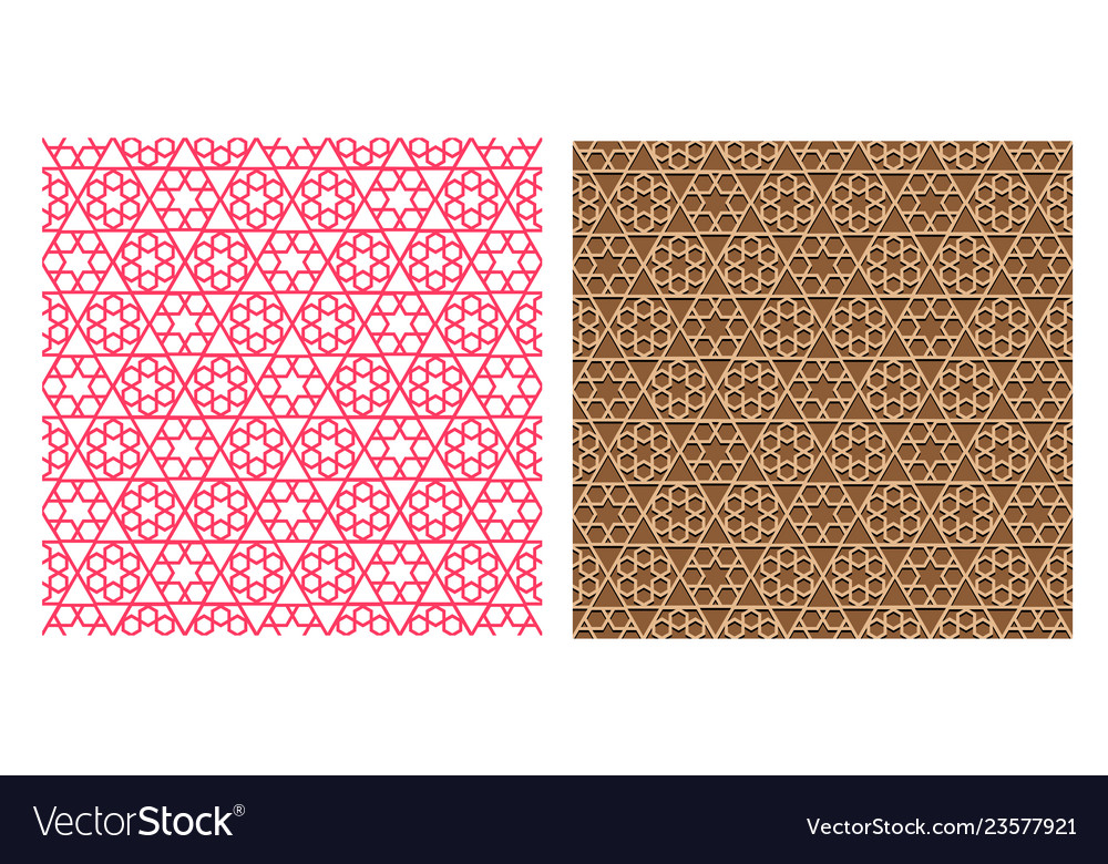 Seamless geometric pattern in islamic style vector