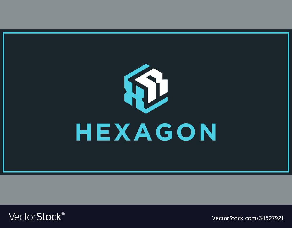 Xr hexagon logo design inspiration