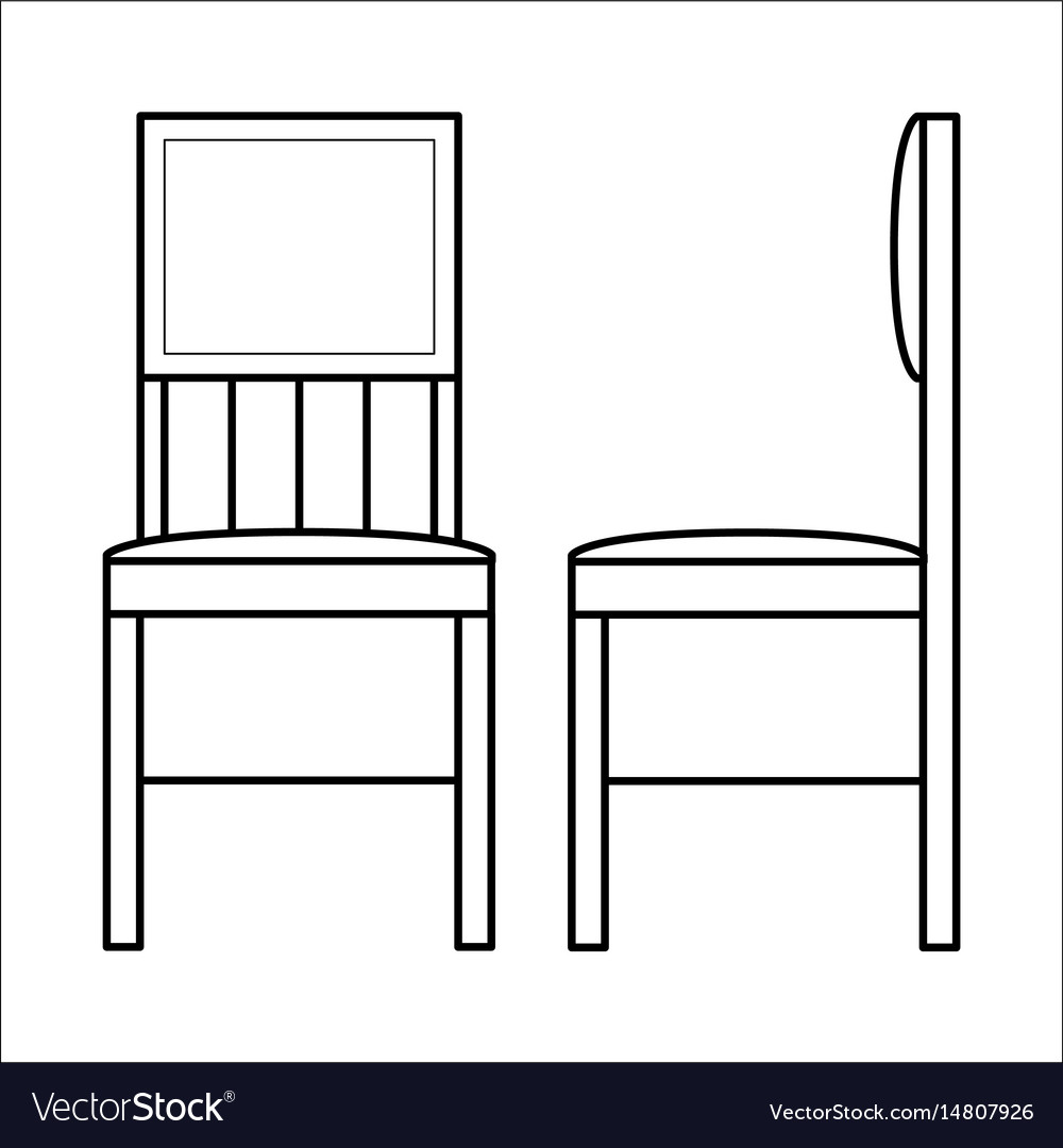 Chair home furniture lineart design interior