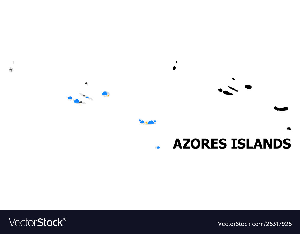Climate Pattern Map Azores Islands Royalty Free Vector Image
