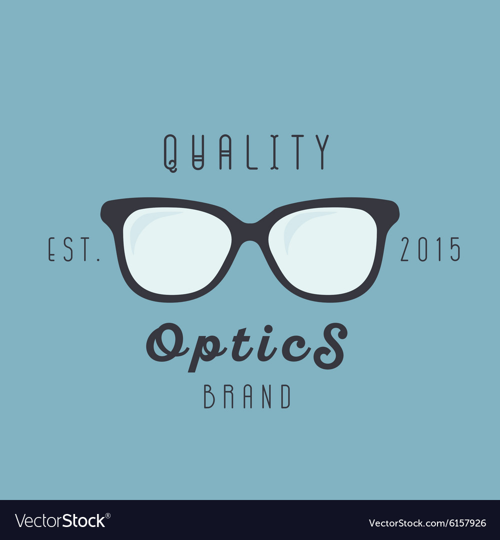 Glasses logos brand trend sign vector image