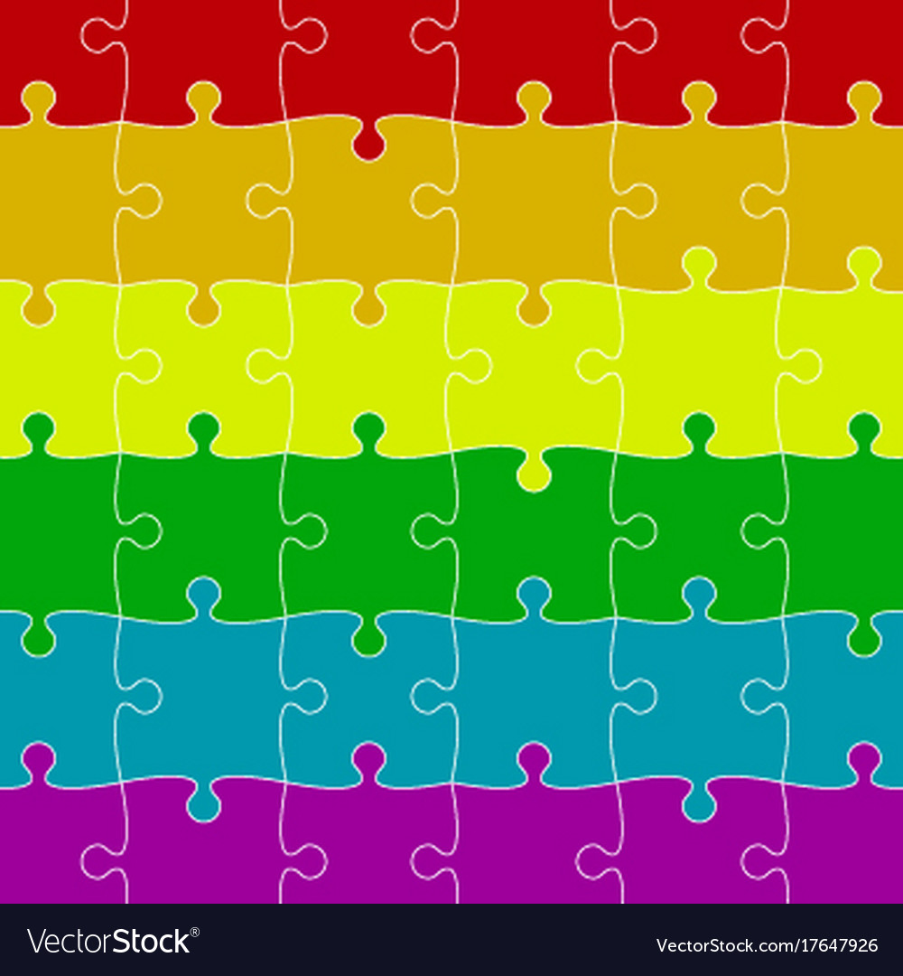 Lgbt pride background colored puzzles pieces