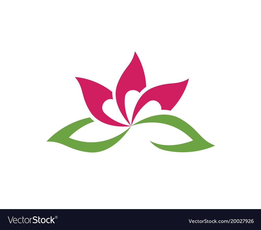 Lotus flower sign for wellness spa and yoga vector image izmirmasajfo
