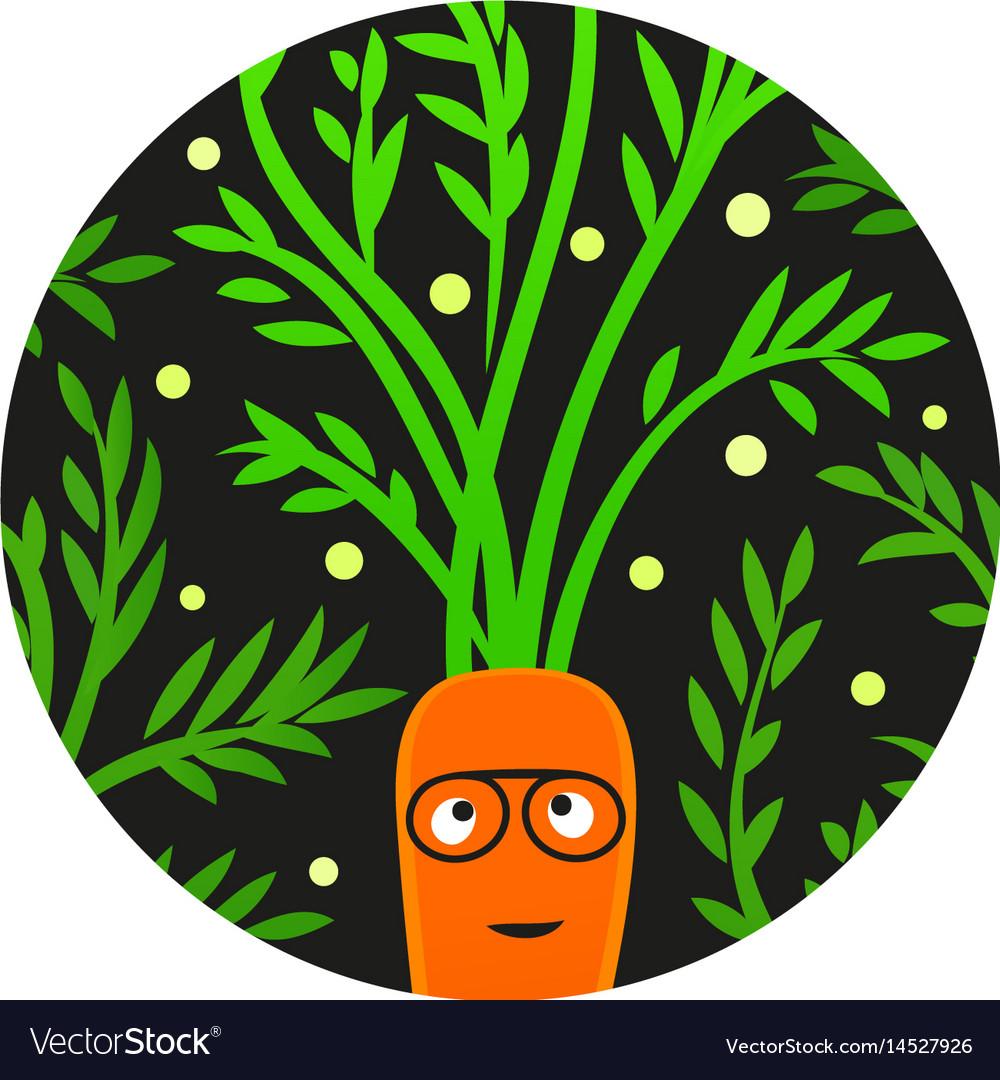 Reggae veggie funny carrot character