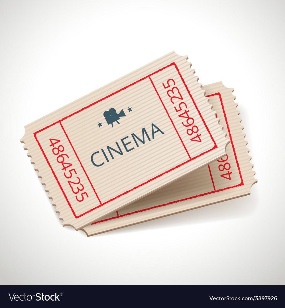 Retro tickets vector image