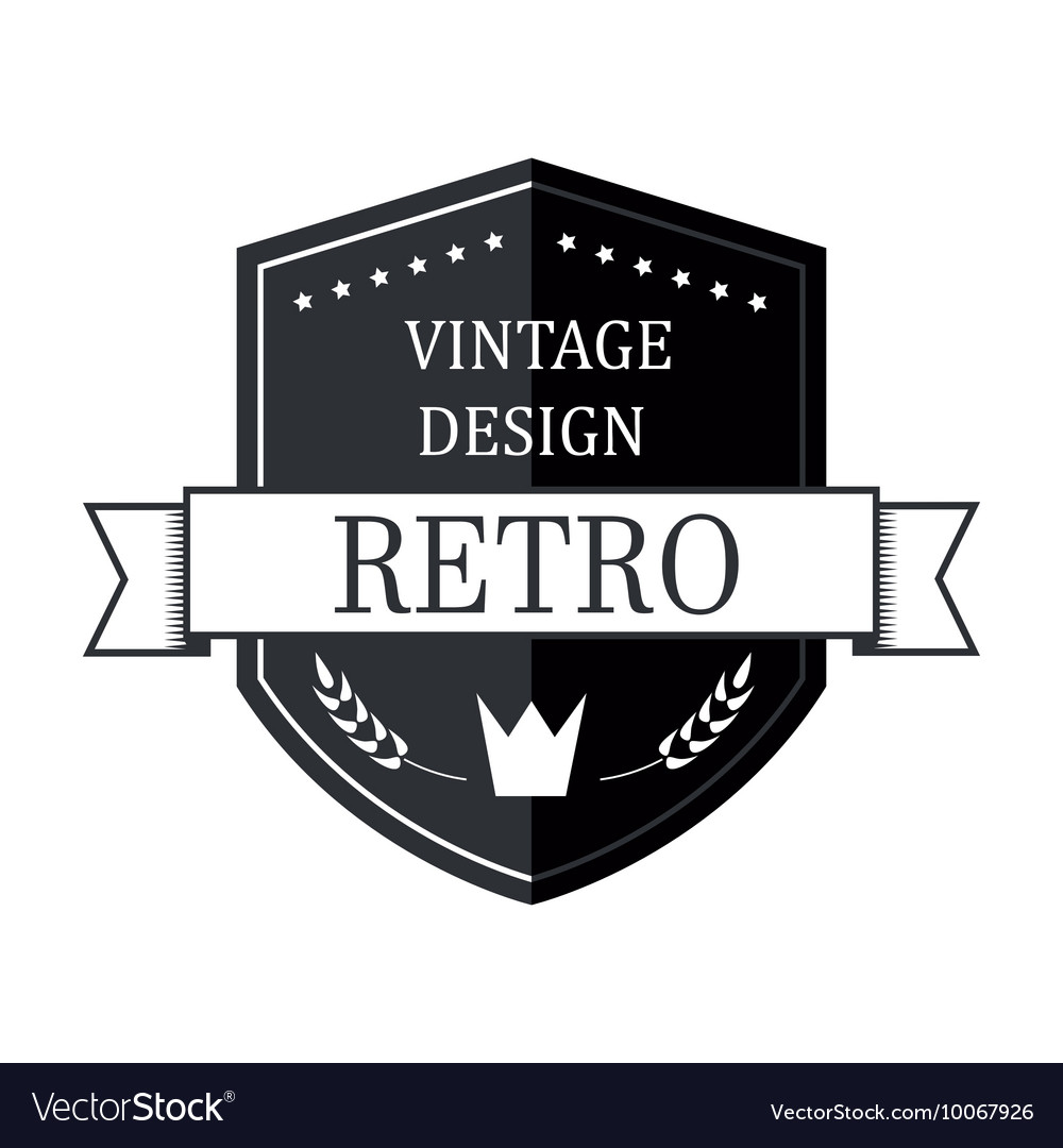 retro vintage logo template royalty free vector image