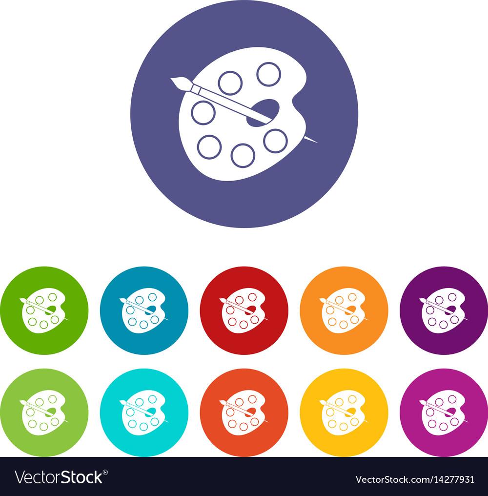 Children abc icons set flat vector image