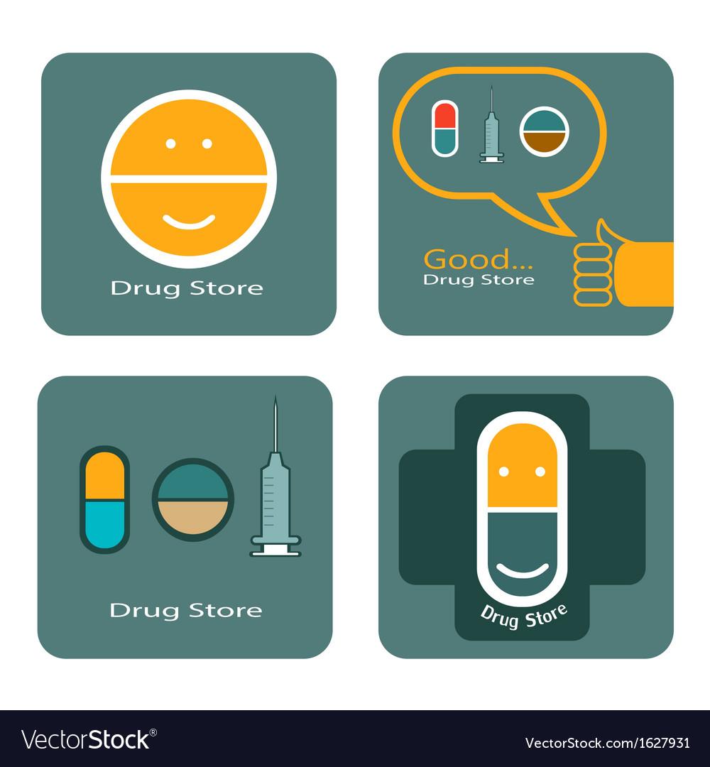 Drug store icon design vector image