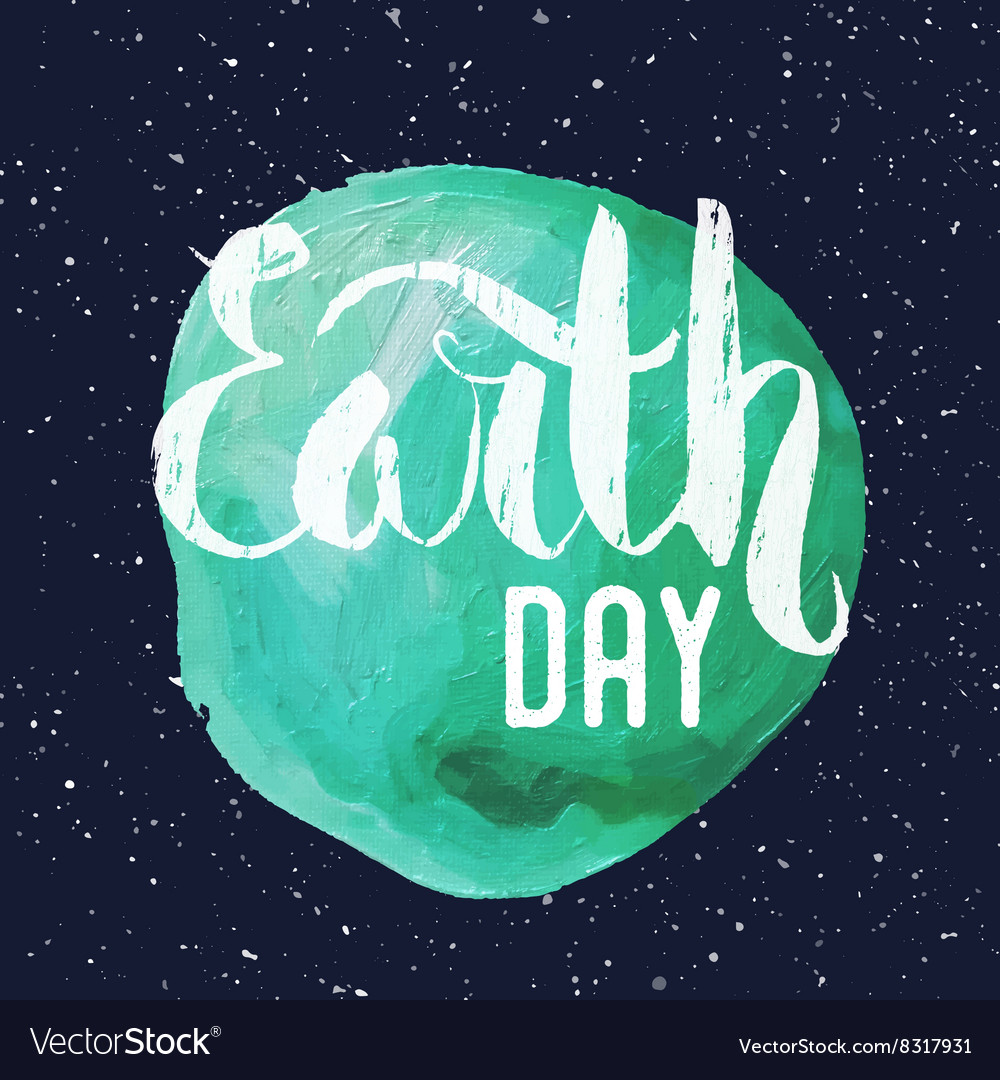 Lettering Poster for Earth day
