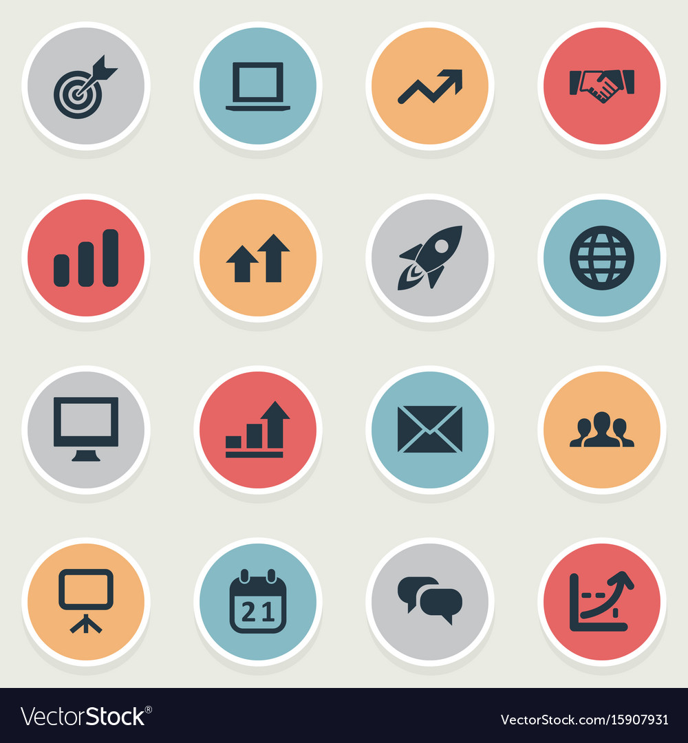 Set of simple startup icons