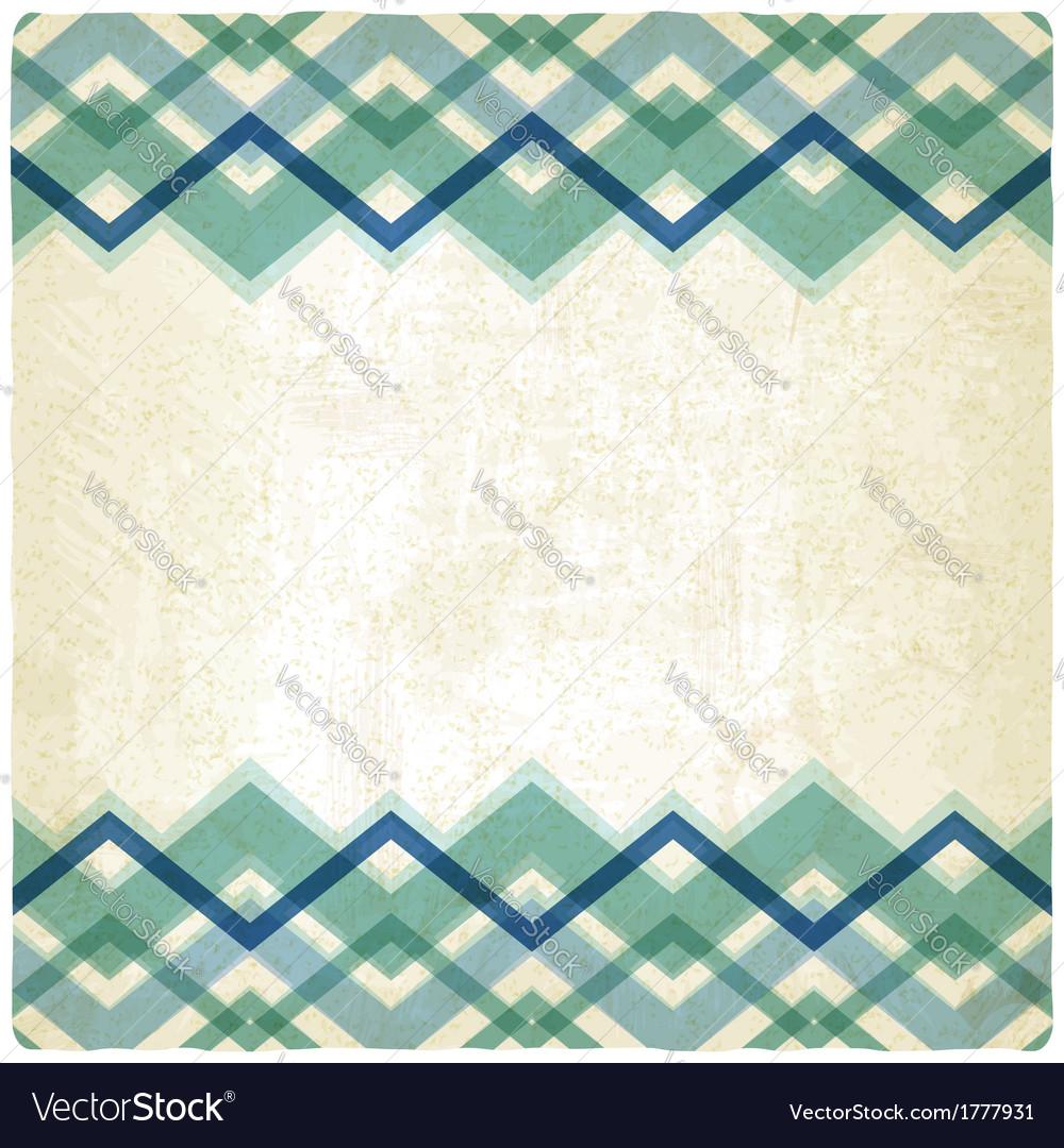 Zigzag retro background vector image