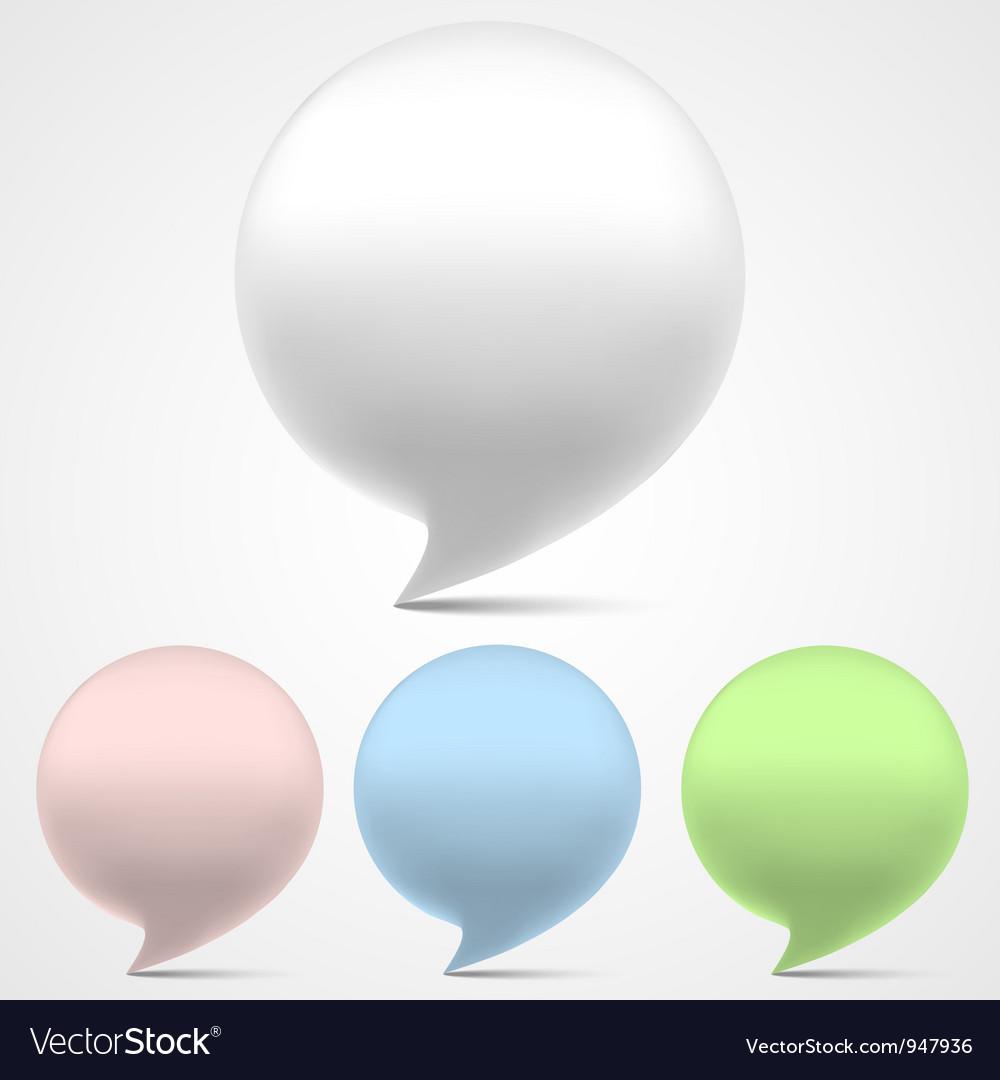 3d speech bubbles set