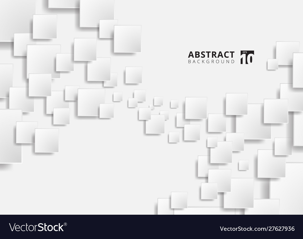 Abstract white geometric squares shape