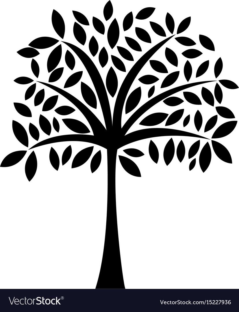 Black icon tree cartoon