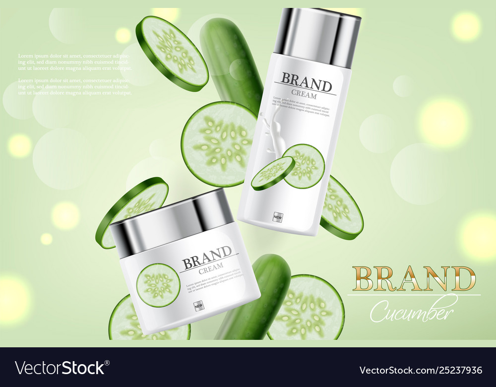 Cucumber cream collection realistic