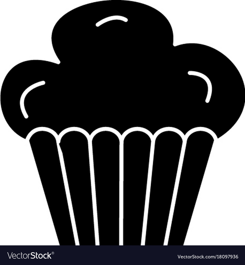 Cupcake muffin icon black