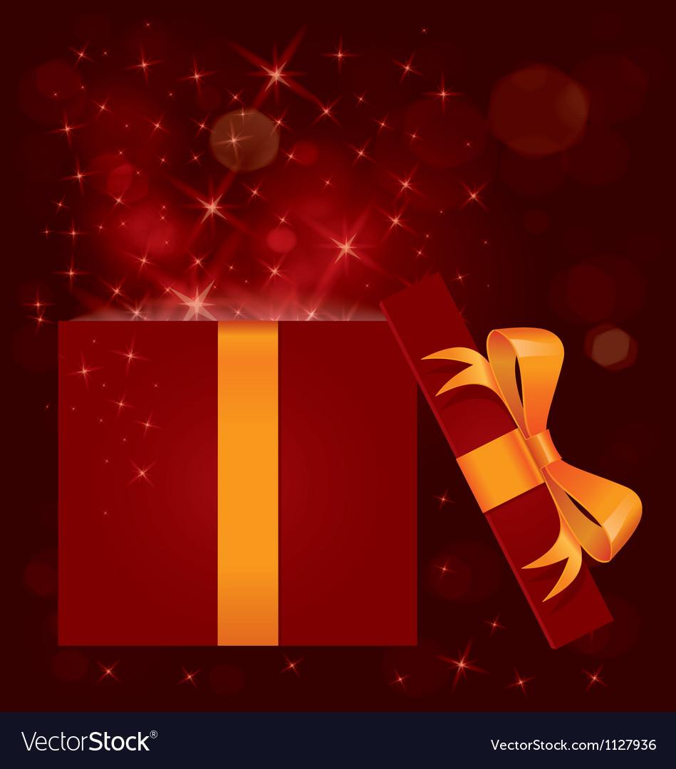 Magic light gift box open