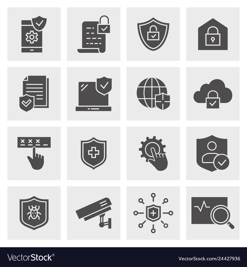 Security icon set isolated for