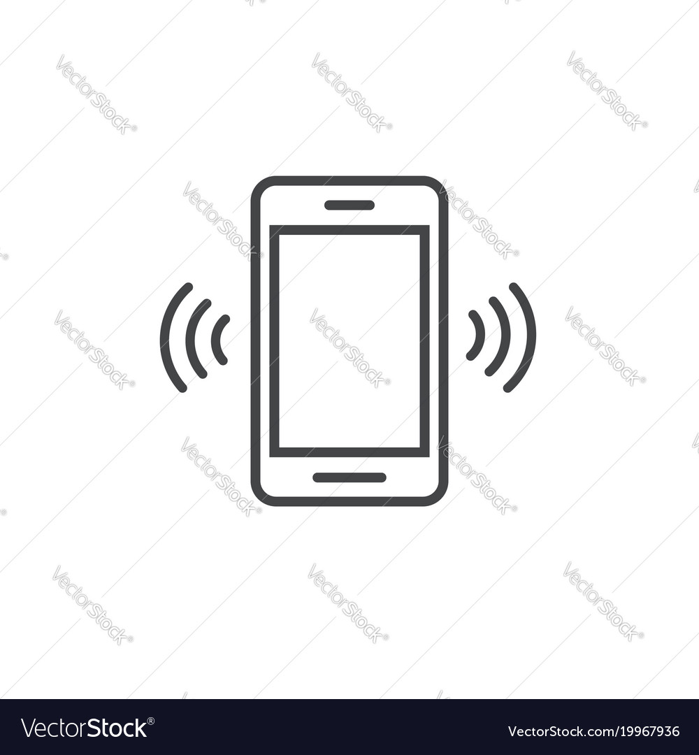 Smartphone or mobile phone ringing icon