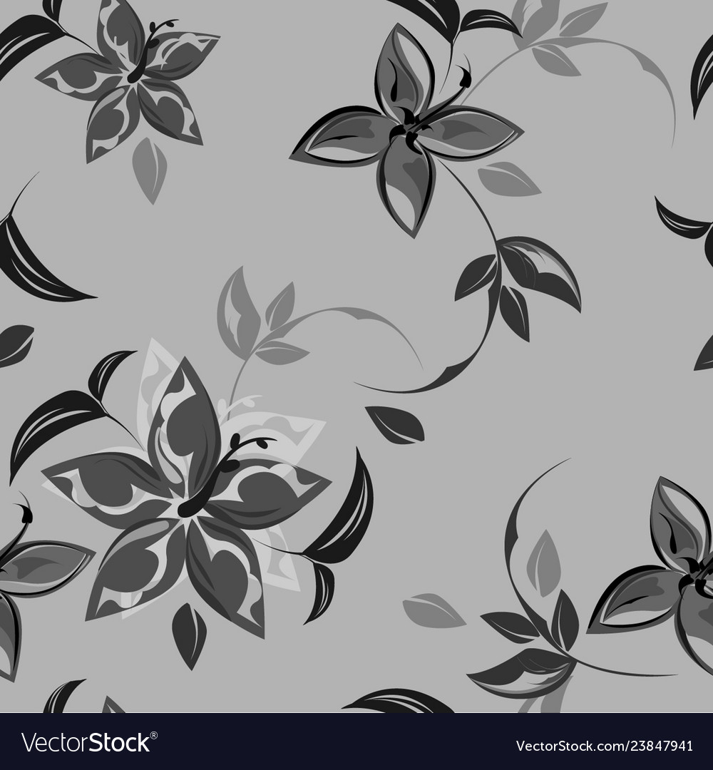 Abstract background flowers seamless