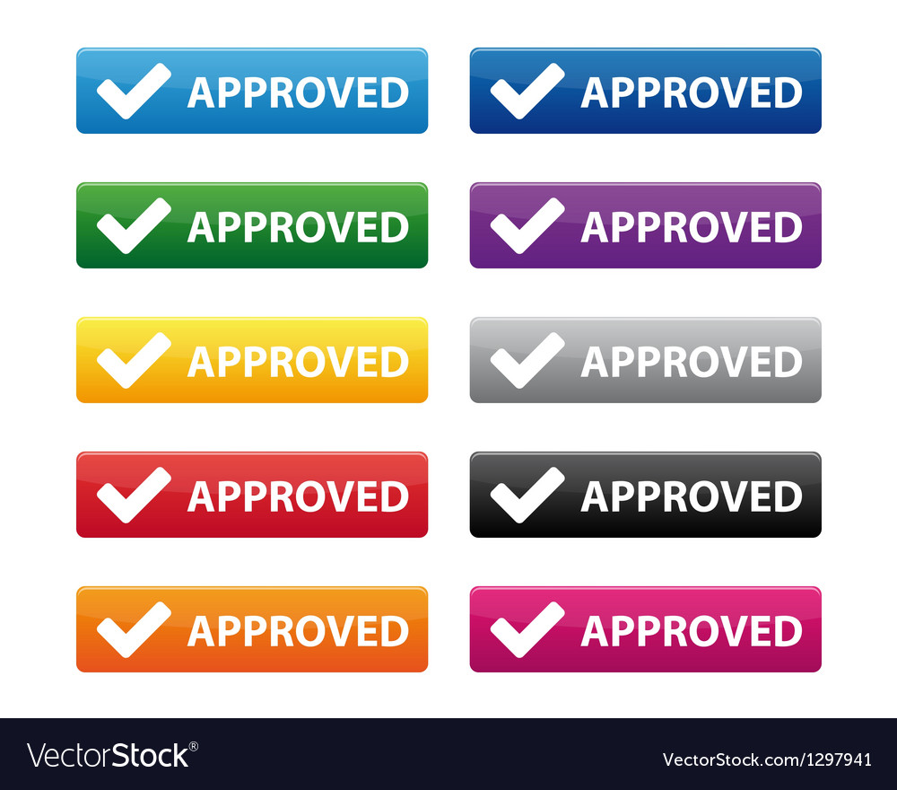 Approved buttons