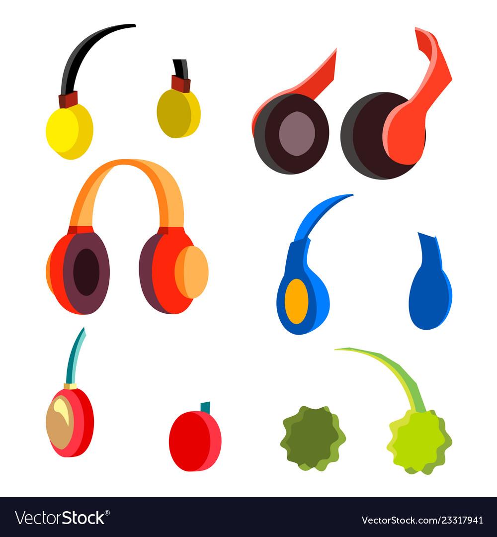Headphones set modern wireless audio