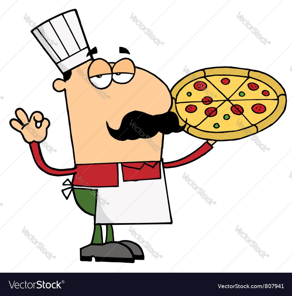 Pizza Chef Man vector image
