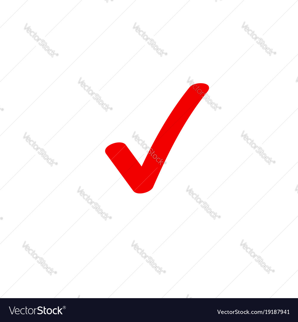 Tick Icon Symbol Marker Red Checkmark Royalty Free Vector