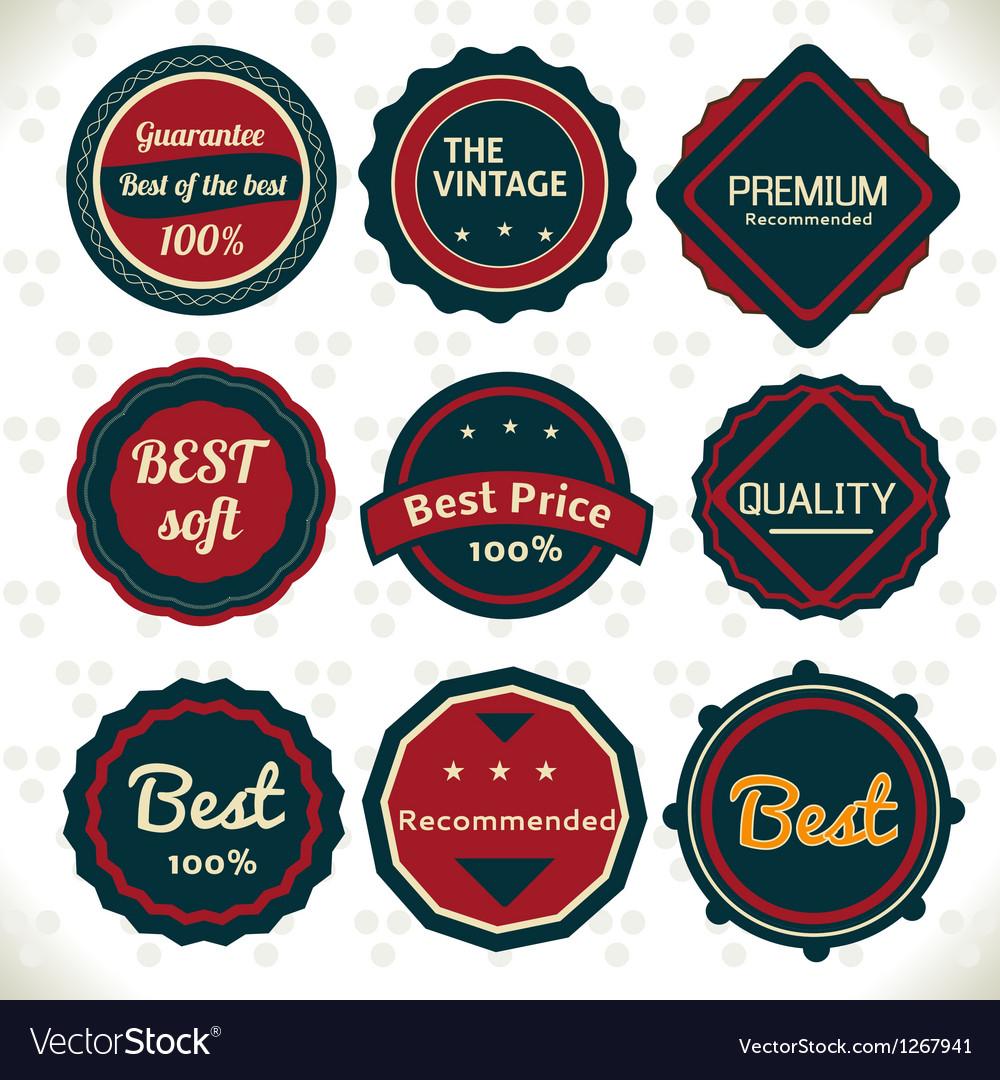 Vintage Emblems vector image
