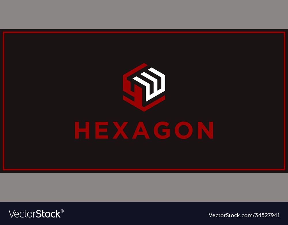 Yw hexagon logo design inspiration