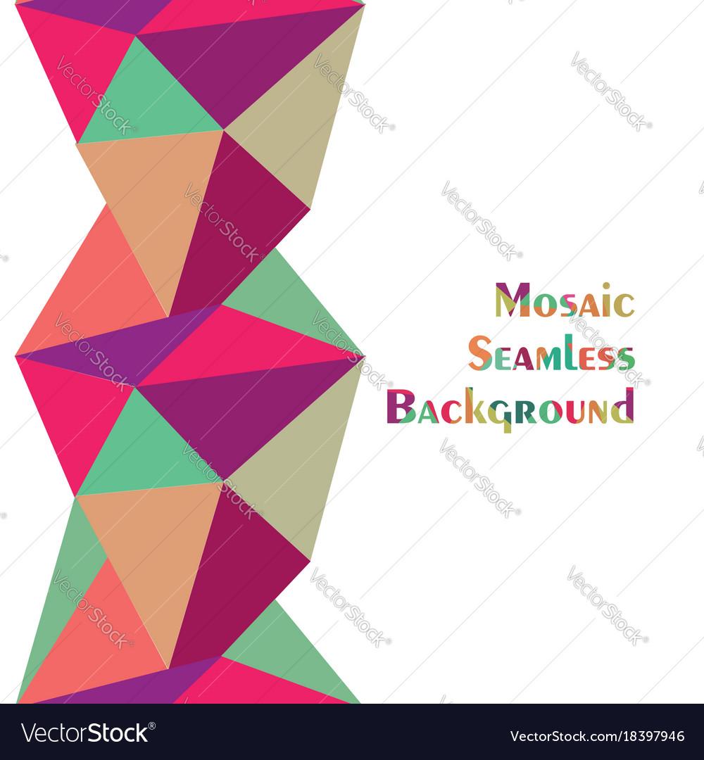 Abstract Seamless Border Pattern Geometric