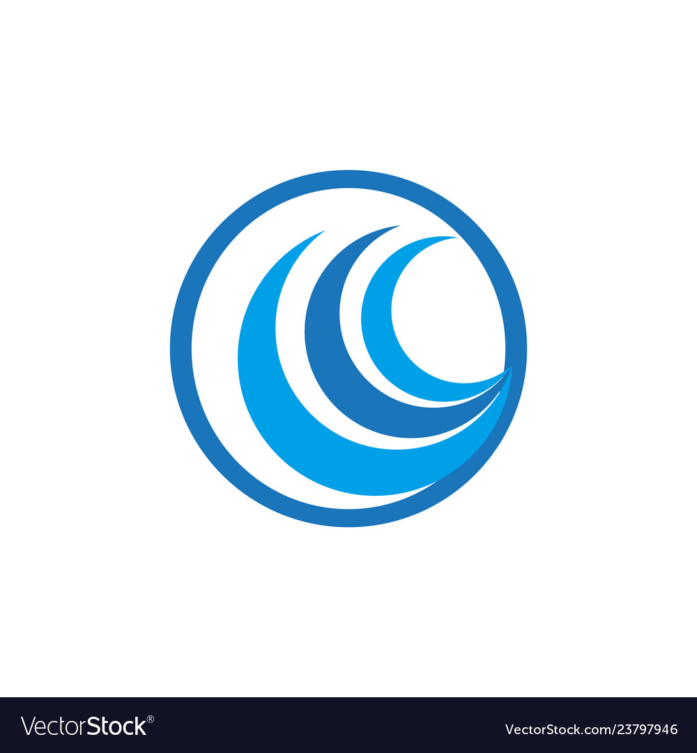 Abstract wave business logo